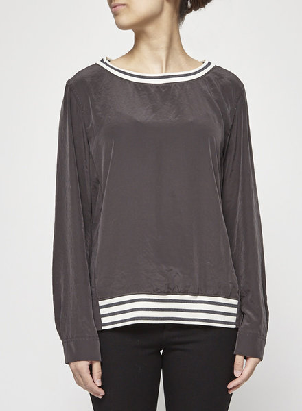 Marc Cain GREY SILK TOP