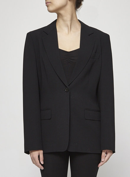MaxMara BLACK VIRGIN WOOL BLAZER