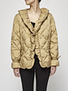 Weekend Max Mara Beige Quilted Down Jacket
