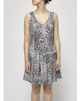 Rebecca Taylor SILK PRINTED PLEATED DRESS
