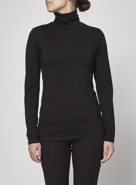 Francois Beauregard BLACK MERINO WOOL TURTLENECK