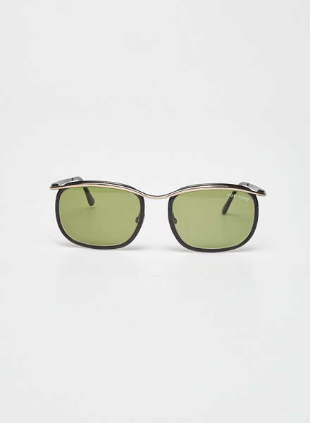 Tom Ford D-FRAME GOLD-TONE AND ACETATE SUNGLASSES