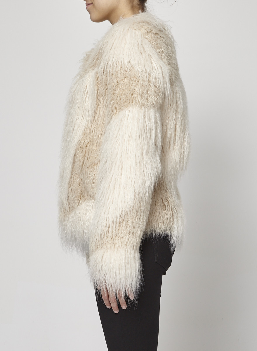 SET Off-White faux fur Gloria coat - New with Tag