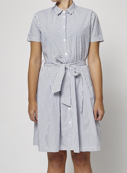 Francois Beauregard BLUE & WHITE STRIPED DRESS