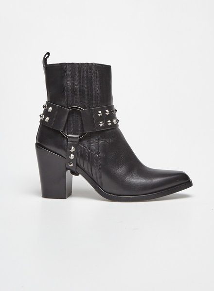 La canadienne BIJOUX BLACK LEATHER BOOTS
