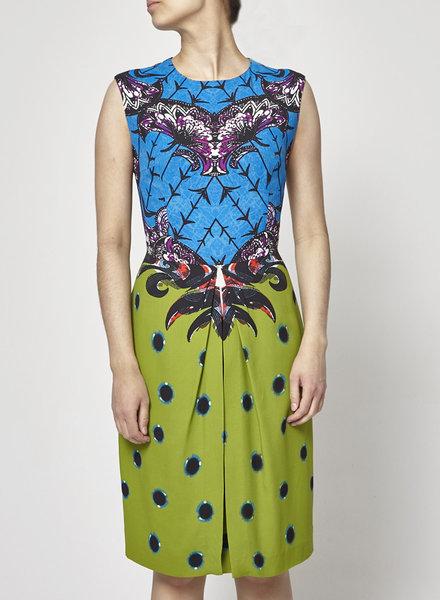 ETRO GREEN & BLUE PRINT DRESS