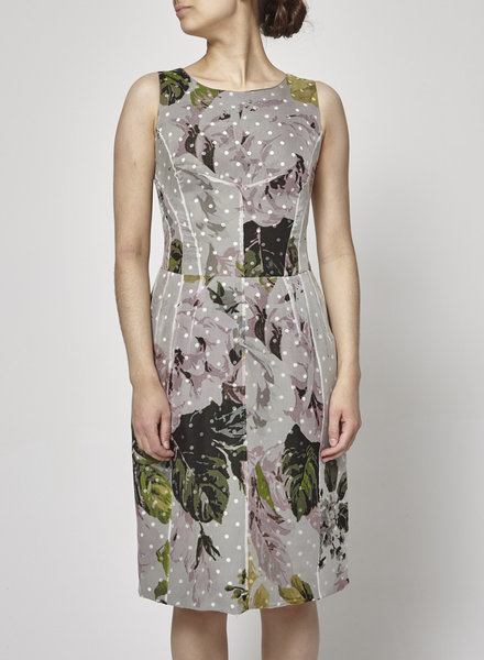 Paul Smith POLKA-DOT FLORAL SILK DRESS