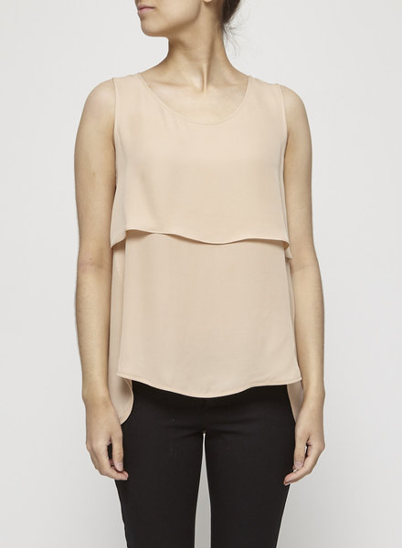 Theory BEIGE SILK TOP