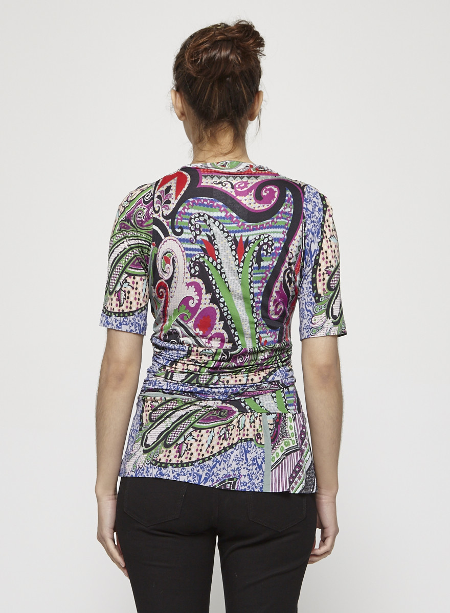 ETRO Multi-Coloured Print Top