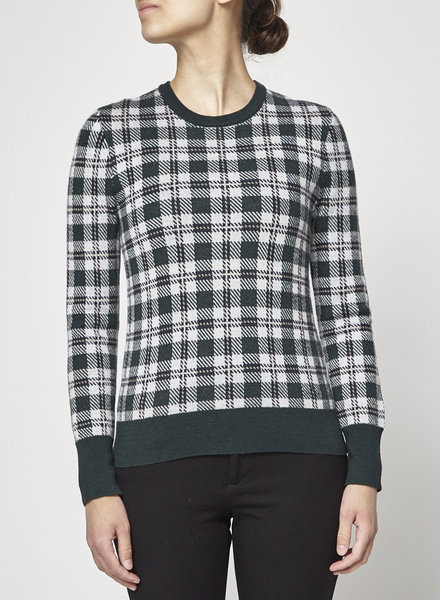 Equipment GREEN CHECKED SWEATER