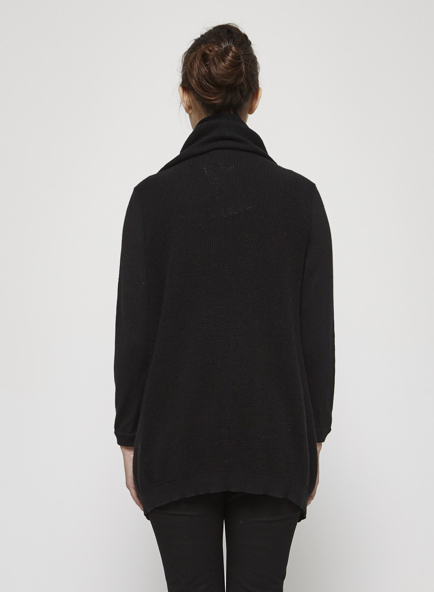 Theory Black Knitted Cardigan