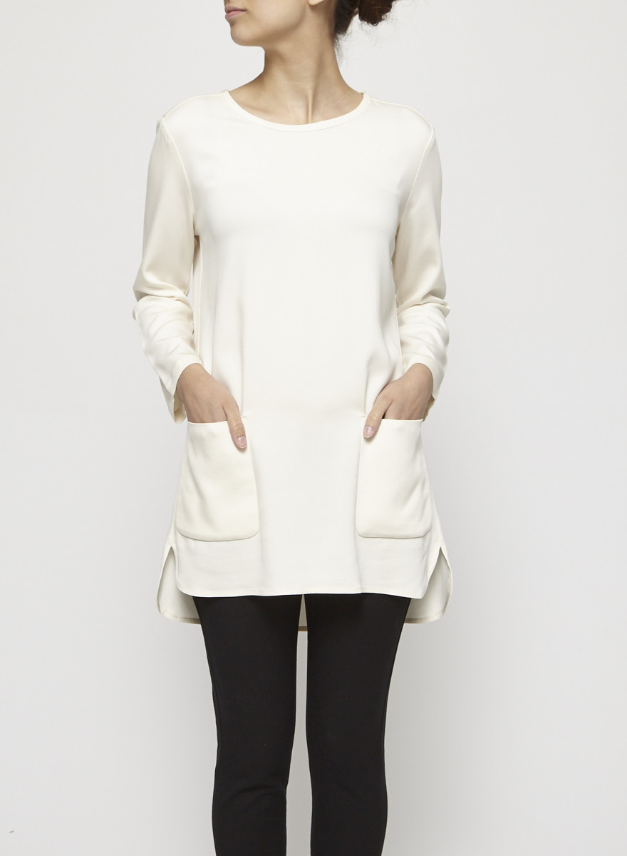 James Perse Off-White Tunic with Pockets
