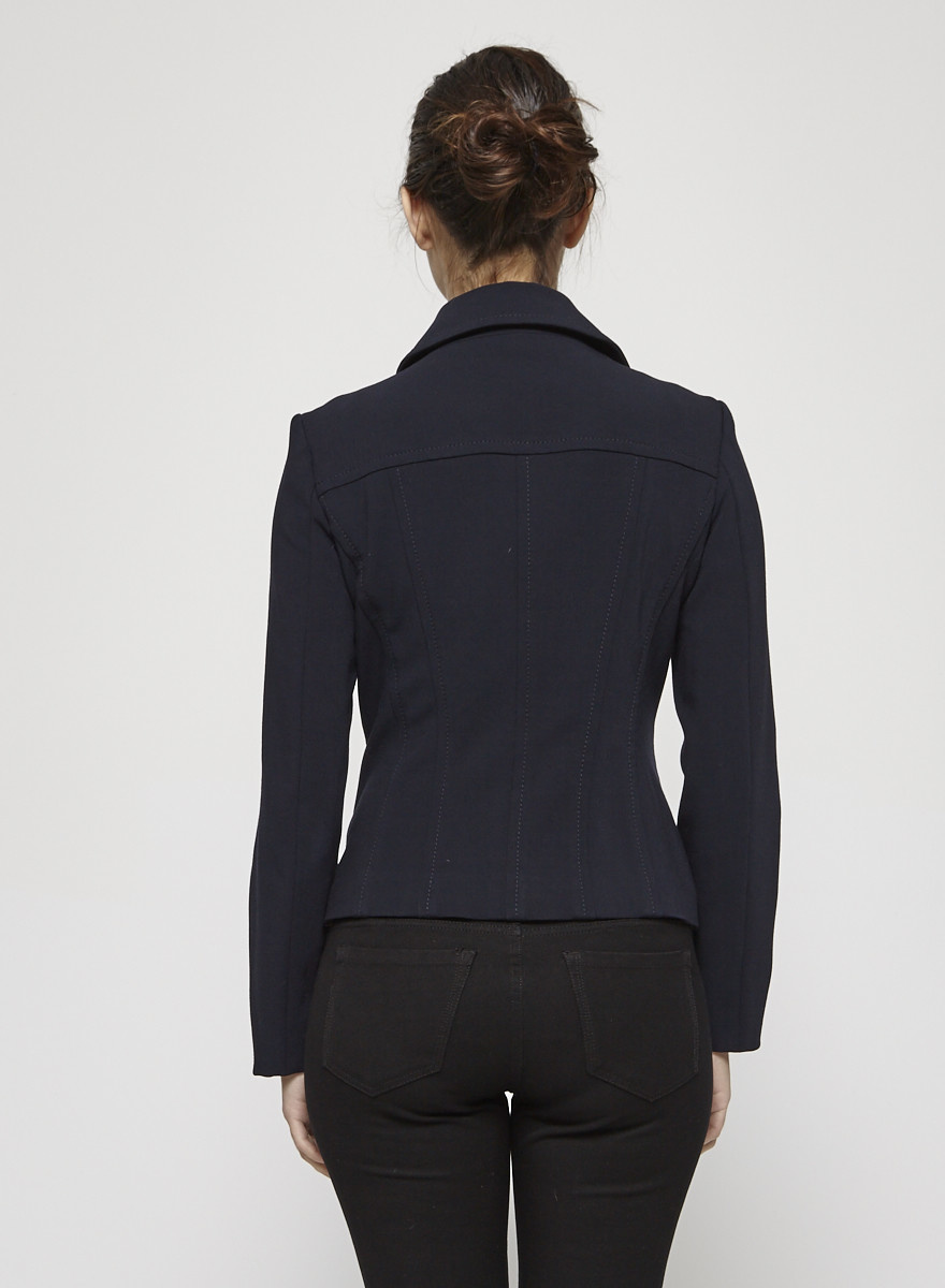 Marc Cain Navy Double Breasted Blazer