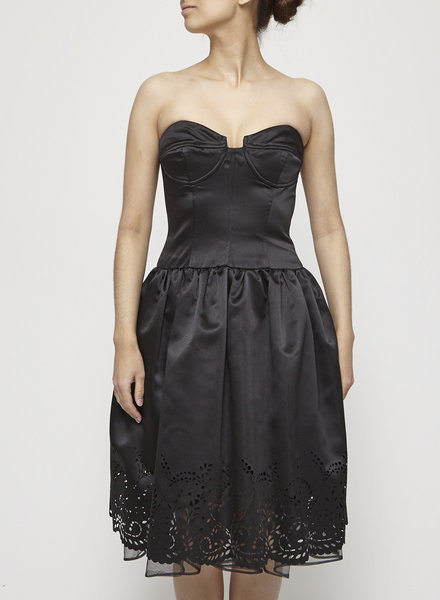 ABS by Allen Schwartz BLACK STRAPLESS DRESS