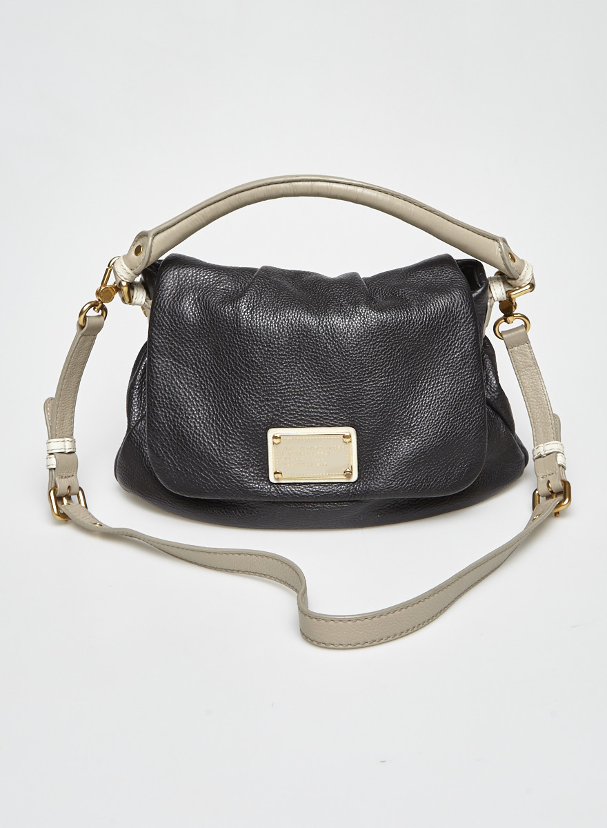 Marc by Marc Jacobs Black and Grey Leather Bag