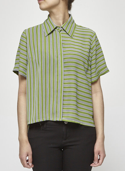 Marigold NELA GREEN STRIPED SHIRT