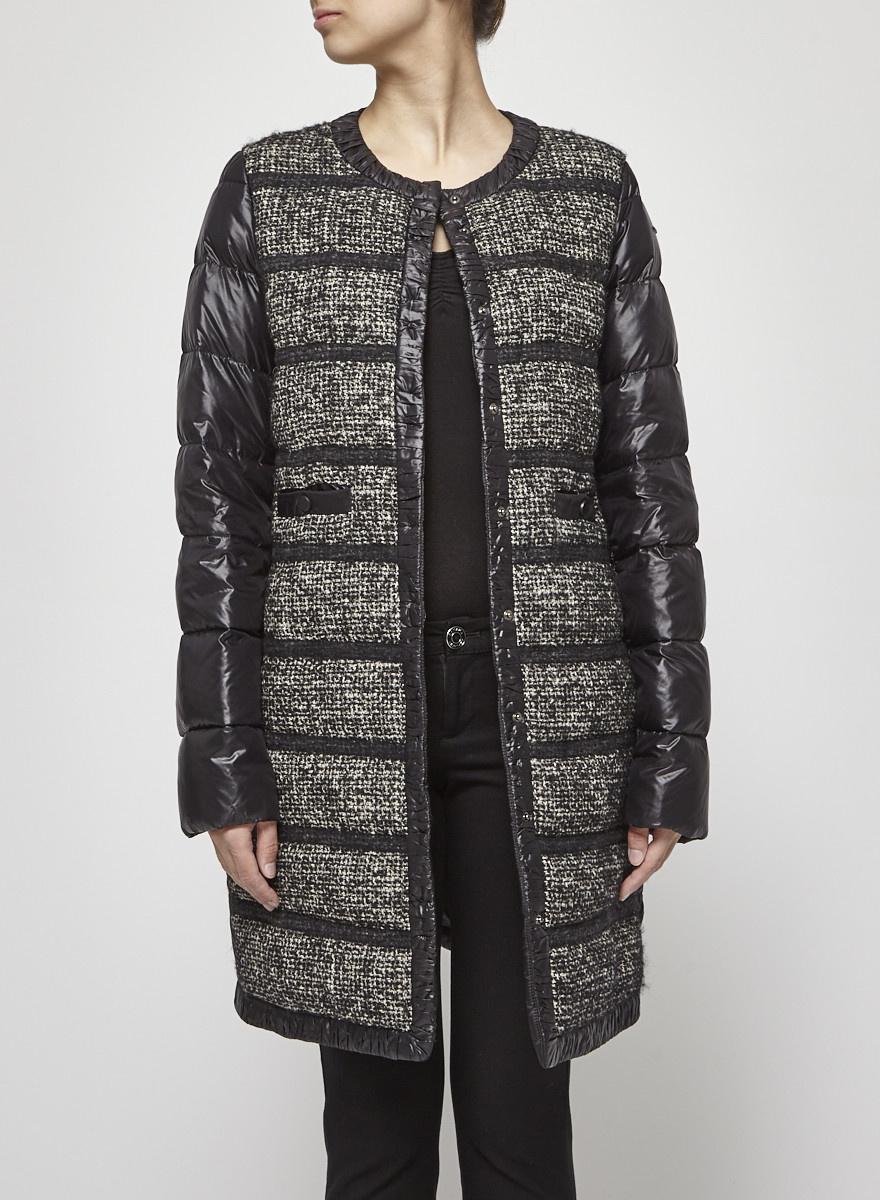 Seventy Black Coat with Linen & Alpaca Front