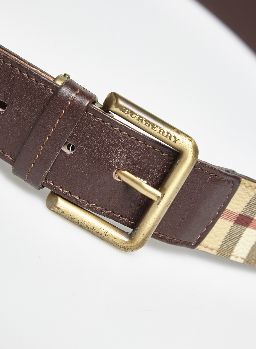 Burberry Monogram Leather Belt