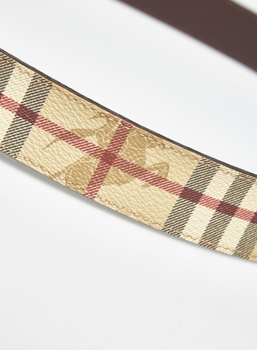 Burberry Ceinture monogramme en cuir