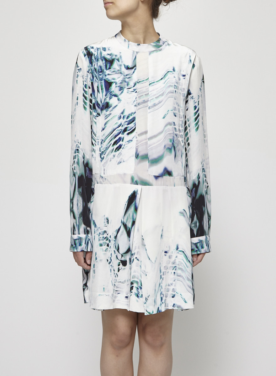 Public School Long Sleeves Printed Silk Dress