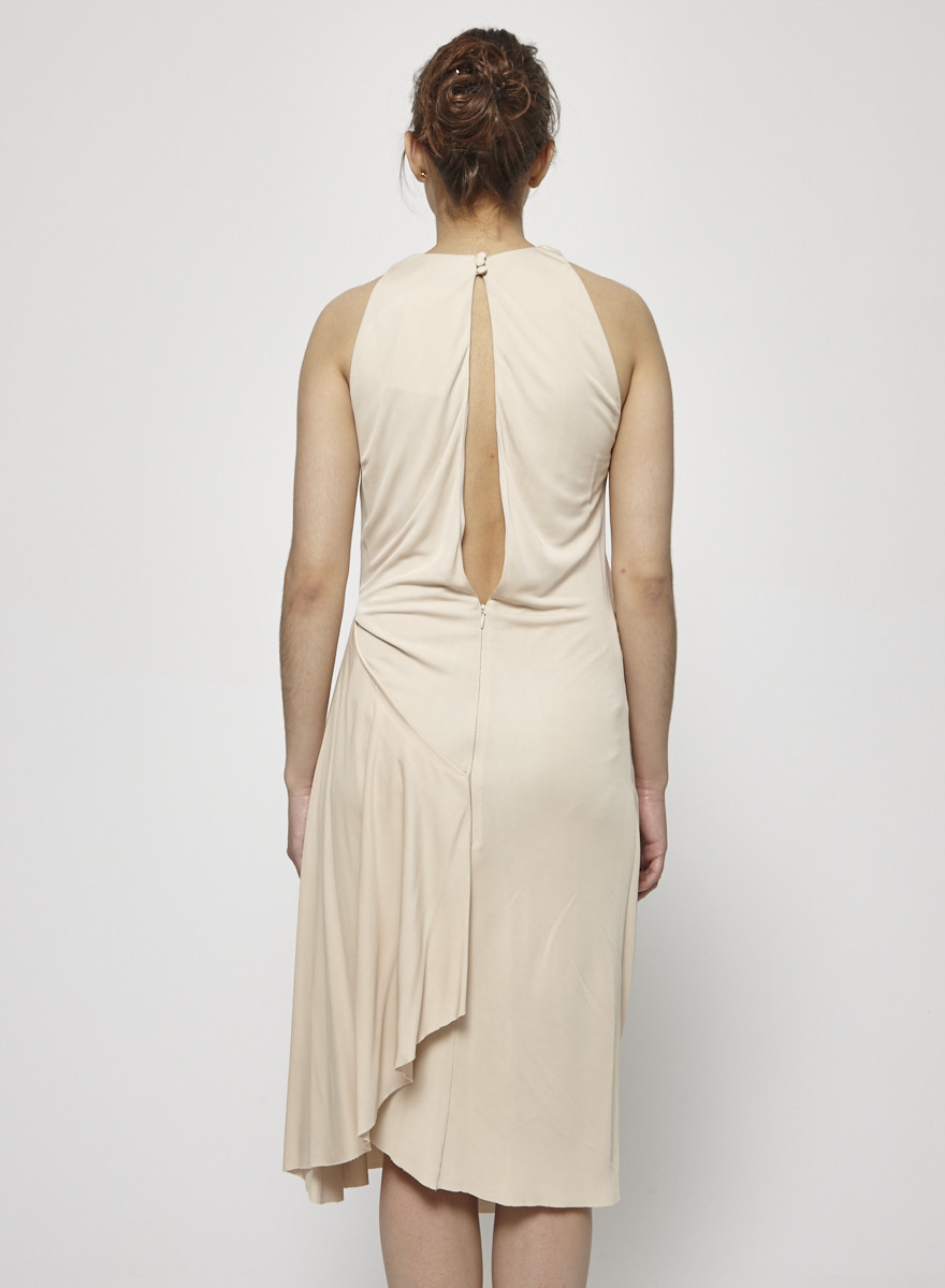Acne Beige Draped Dress