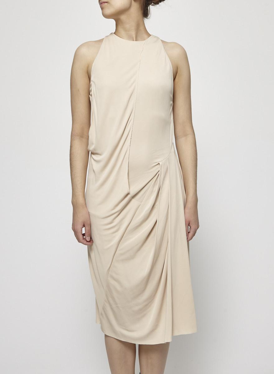 Acne Robe beige drapée