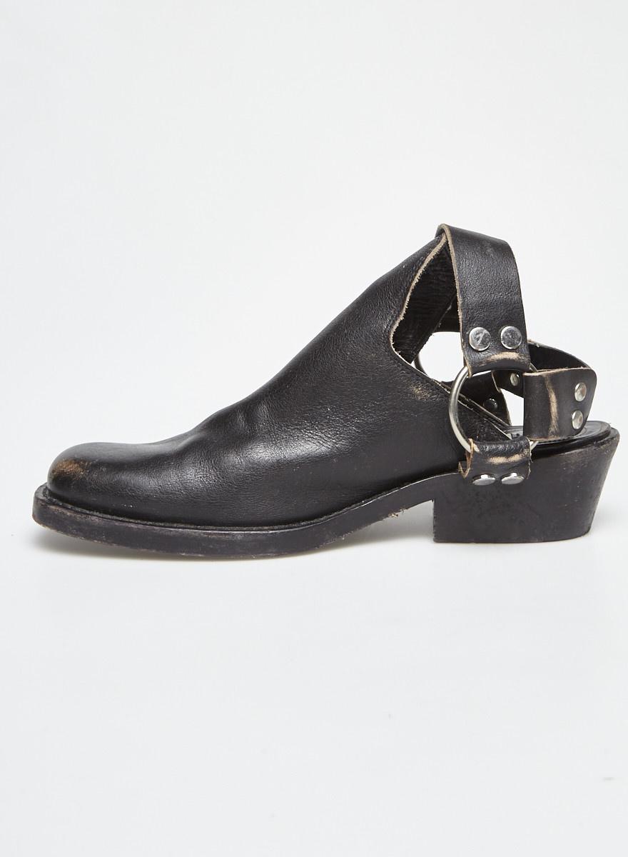 Balenciaga Black Leather Clogs