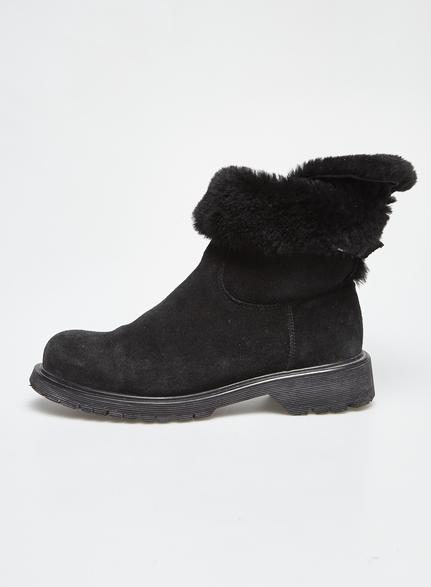 La canadienne Shearling and Suede Booties