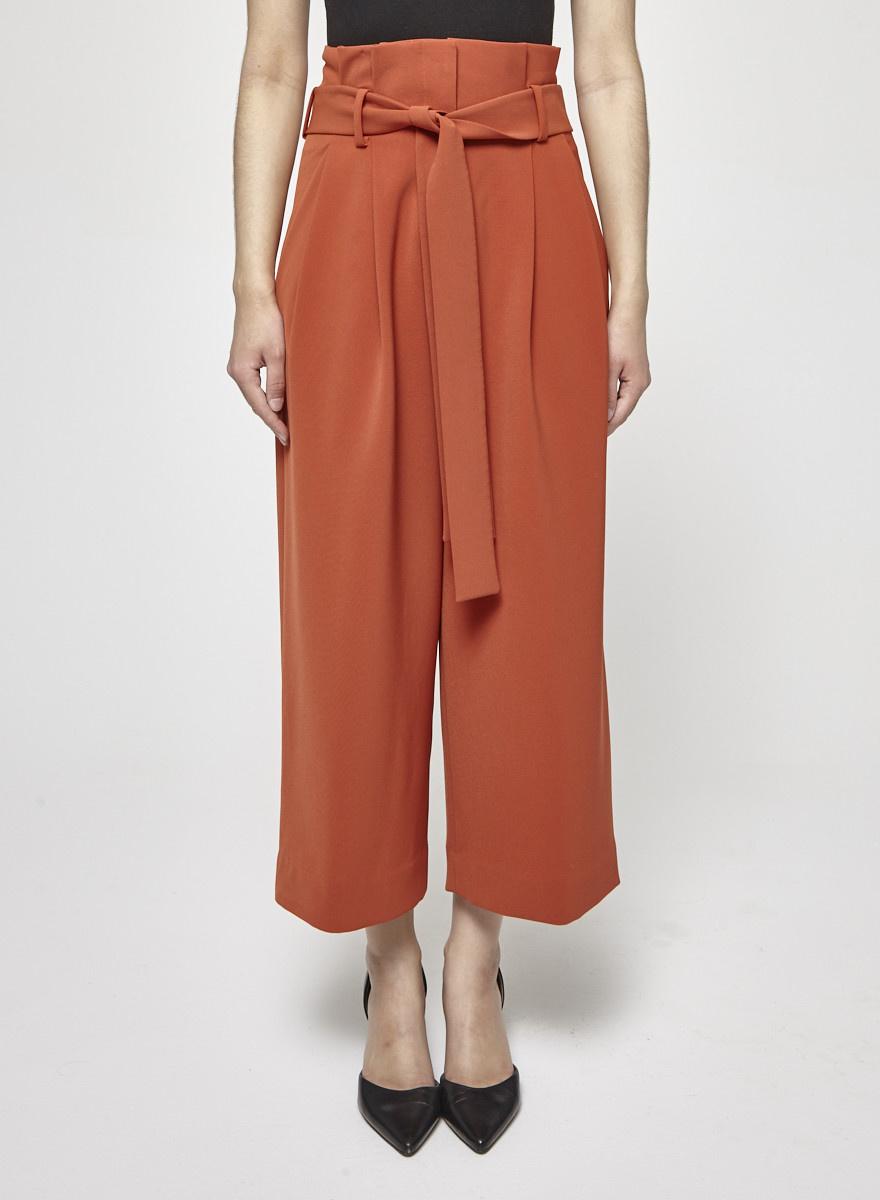 COS Pantalon à taille haute  orange brûlé