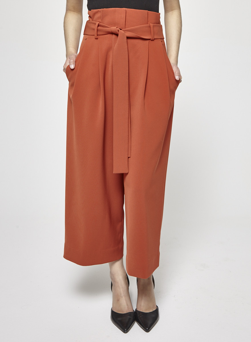 COS Burnt Orange High Waisted Pants