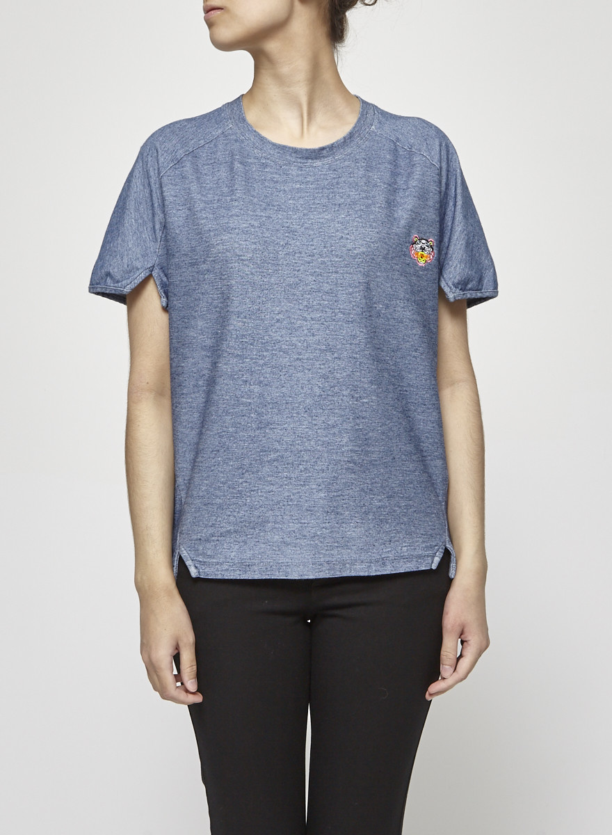 Kenzo Denim-Effect Cotton T-Shirt