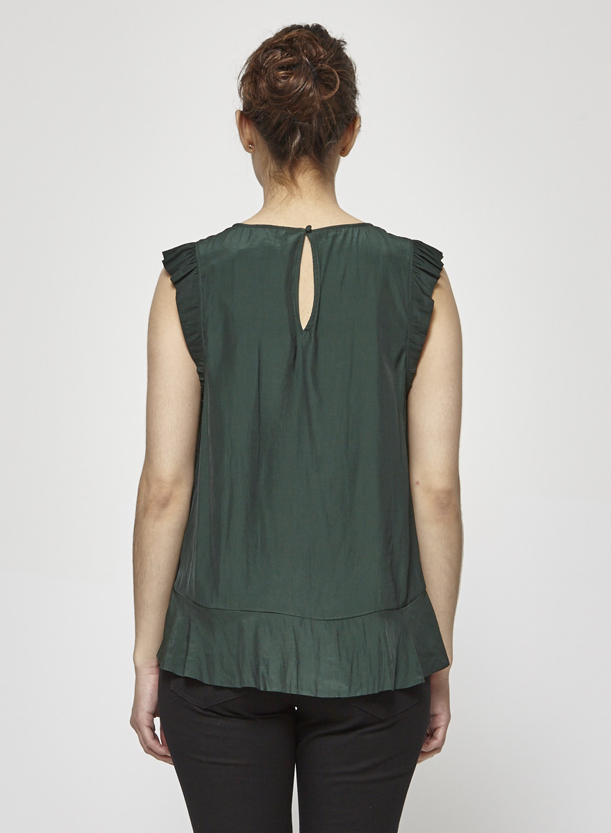 Joie Green Ruffled Top