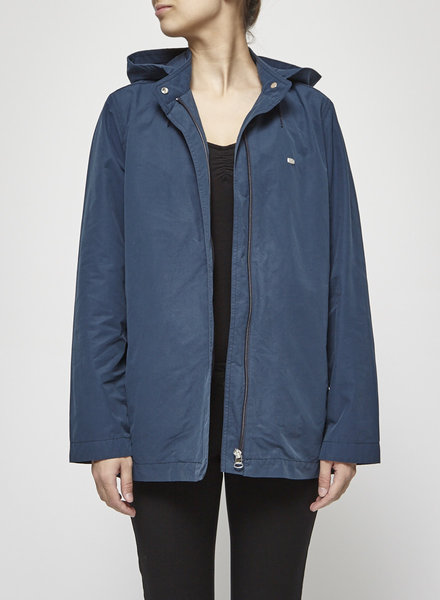 Lacoste TEAL BLUE COTTON COAT