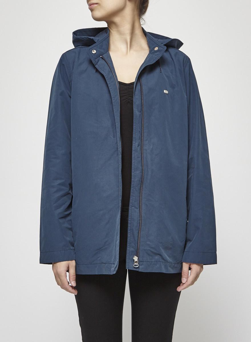 Lacoste Manteau bleu canard en coton