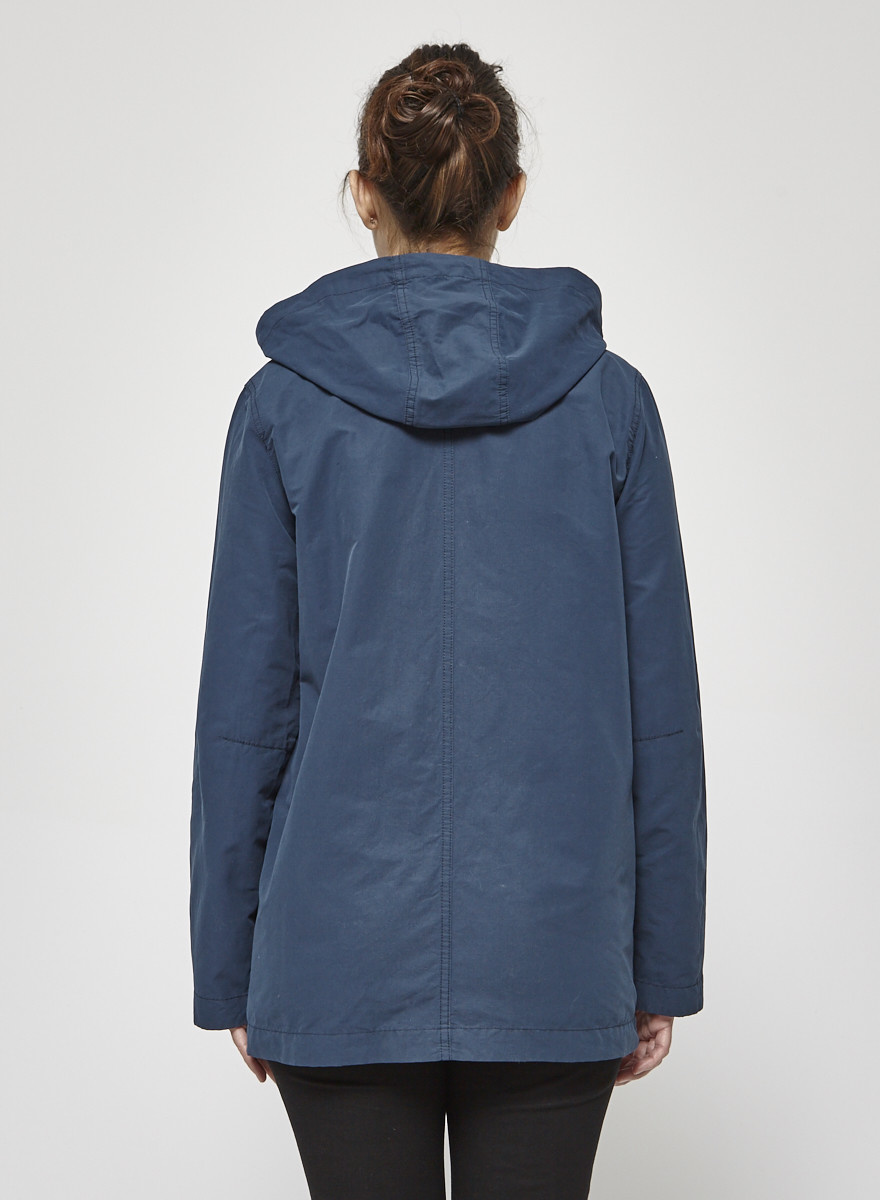 Lacoste Teal Blue Cotton Coat