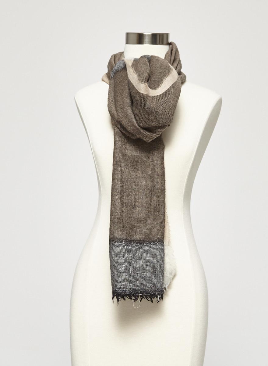 M0851 Brown Wool Scarf