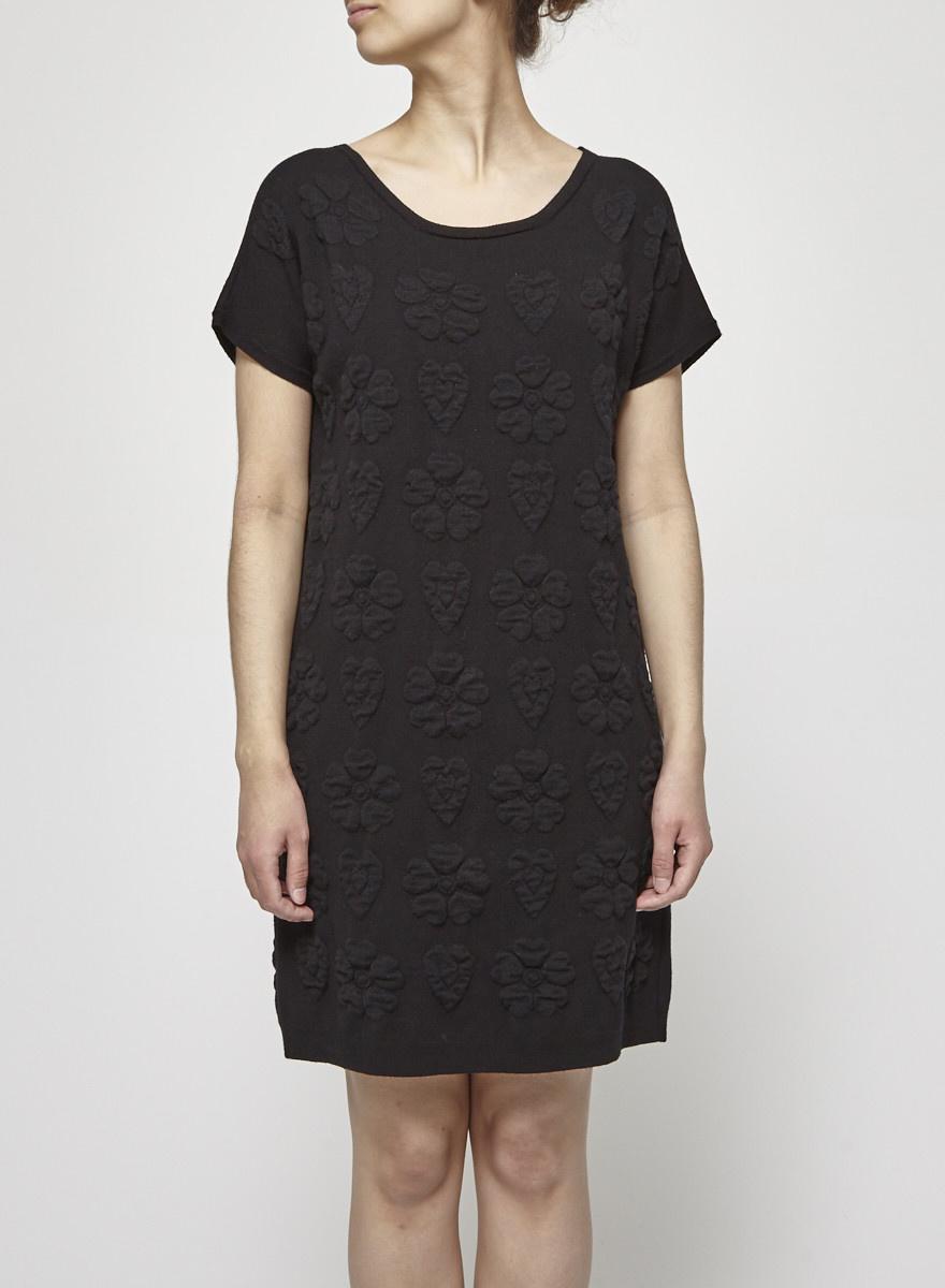 Twin-Set Simona Barbieri Pattern-Knitted Wool Dress