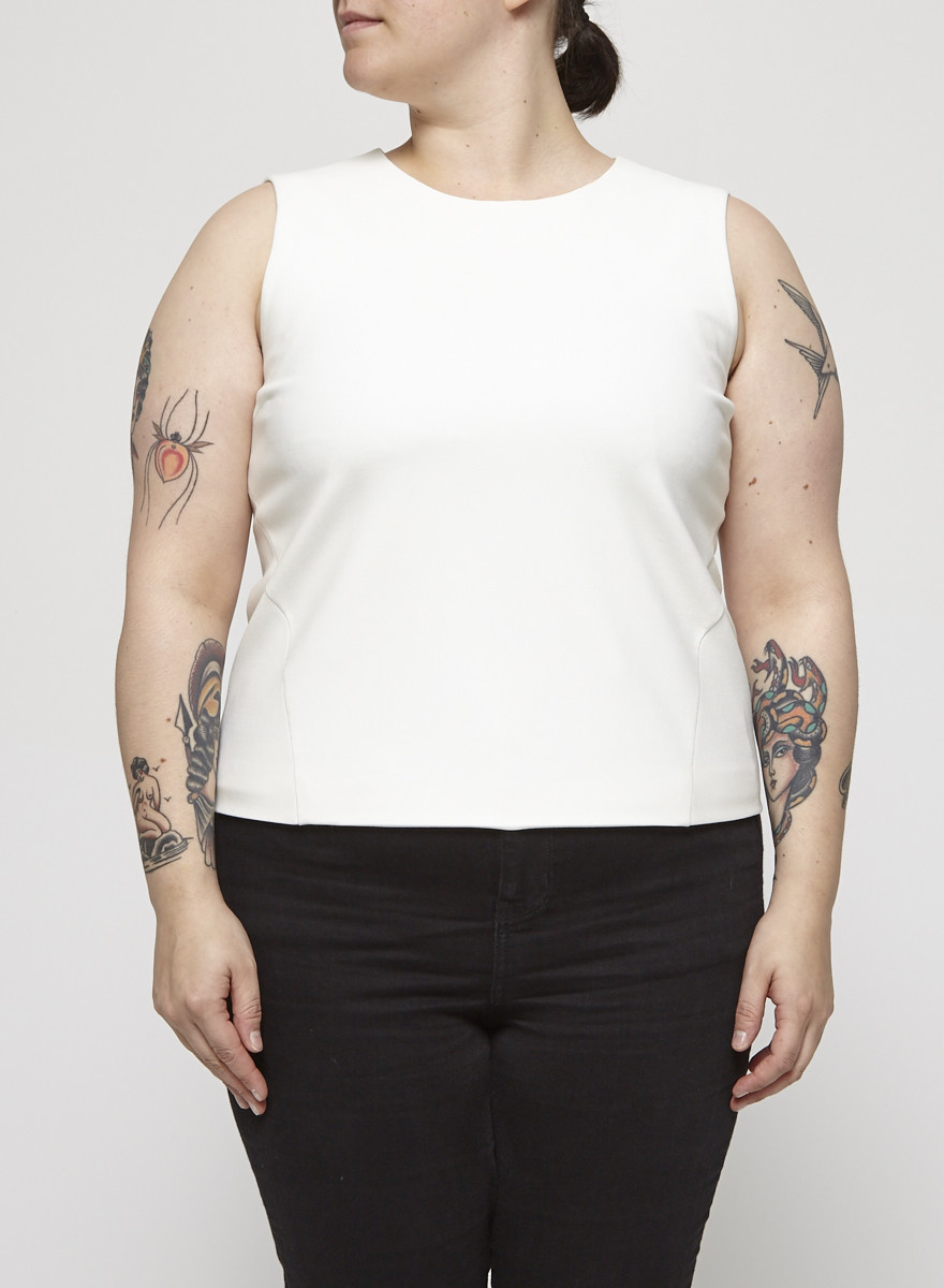 Elizabeth & James White Sleeveless Top