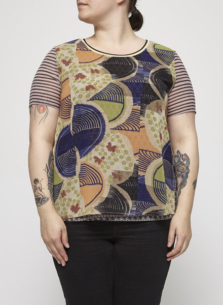 Scotch & Soda PRINTED SHEER TOP