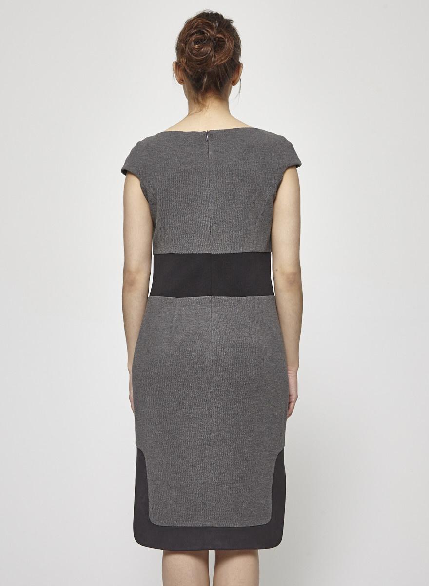 Iris Setlakwe Robe grise cintrée à la taille - Neuve avec étiquette