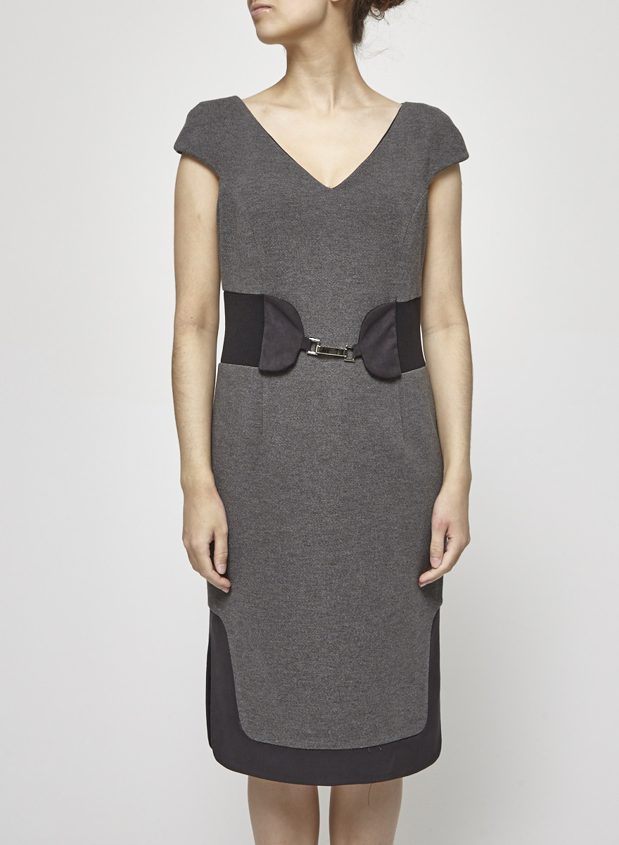 Iris Setlakwe Grey Fitted Dress - New With Tag