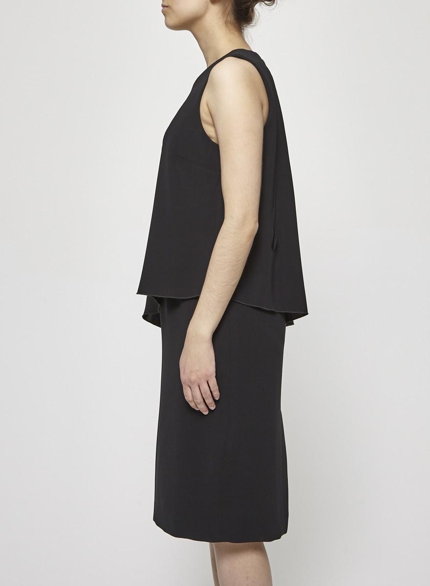 Iris Setlakwe Robe noire à volant - Neuve
