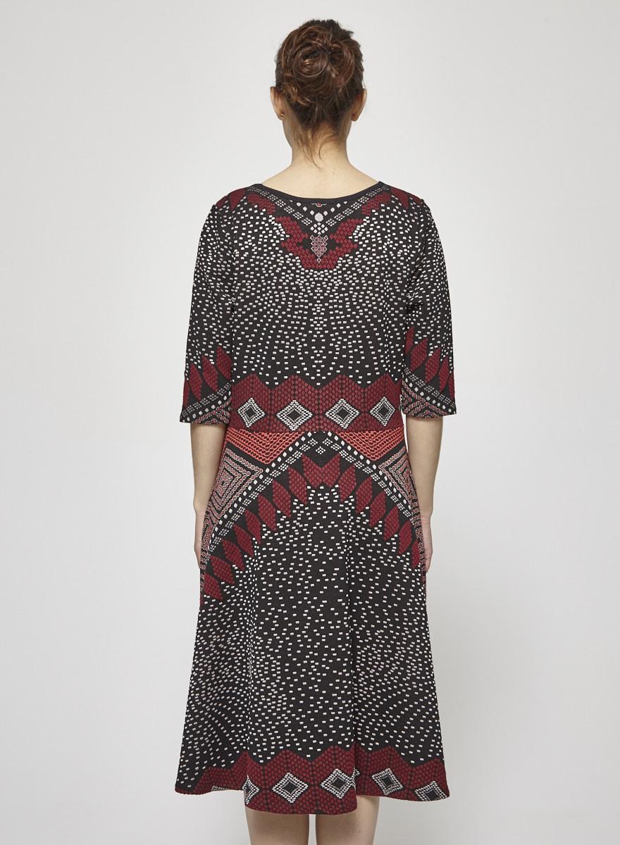 Nadya Toto Robe en tricot à motifs géométriques