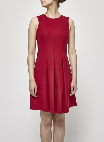 Theory CHERRY RED PLEATED DRESS