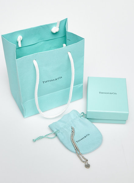 Tiffany & Co. BEADED BRACELET WITH STERLING SILVER HEART TAG