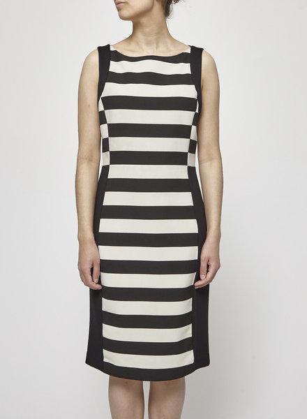 Iris Setlakwe BLACK AND WHITE STRIPPED DRESS