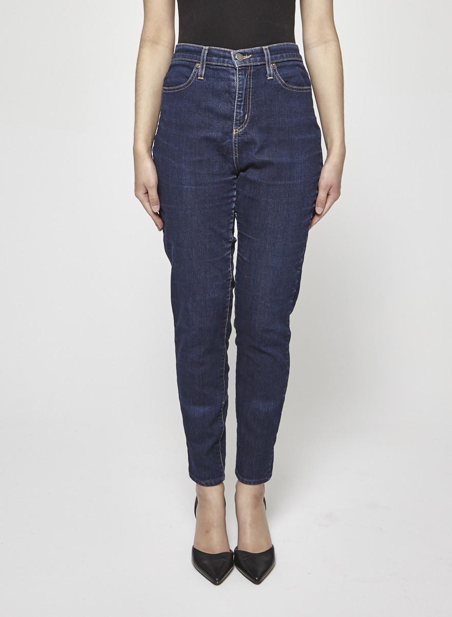 Iris Dark Blue Straight-Leg Jeans
