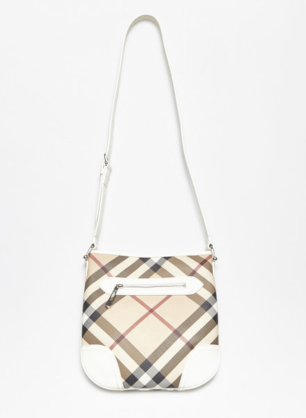 Burberry BURBERRY CHECKED COATED CANVAS BAG