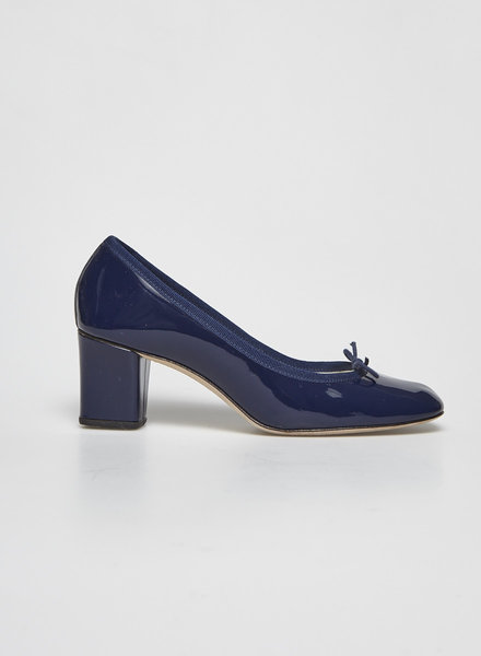 Repetto NAVY PATENT LEATHER PUMPS