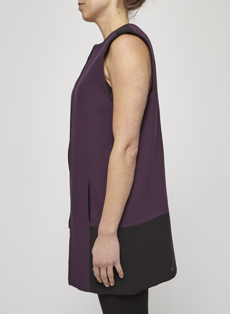 Rad by Rad Hourani Long reversible black and purple vest